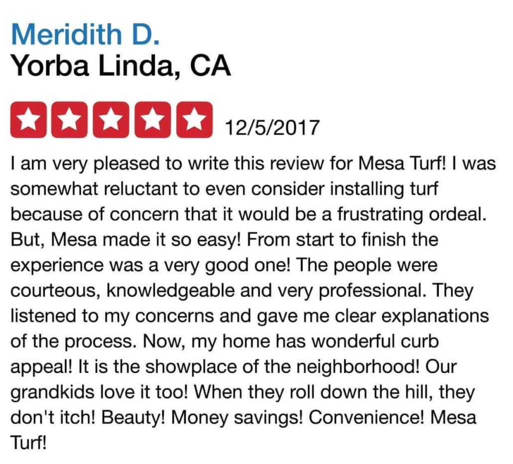 mesa turf reviews
